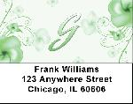 Floral Monogram G Address Labels