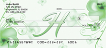 Monogram Letter H Pretty Floral Checks