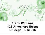 Floral Monogram H Address Labels