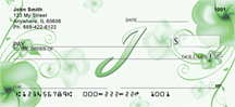 Floral Monogram I Personal Checks