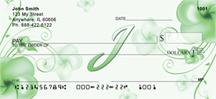 Monogram Letter I Pretty Floral Checks