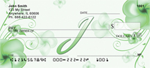 Floral Monogram J Personal Checks