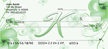 Floral Monogram K Personal Checks