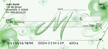 Floral Monogram M Personal Checks