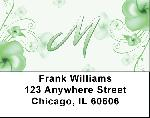 Floral Monogram M Address Labels