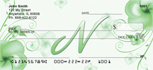 Monogram Letter N Pretty Floral Checks