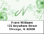 Floral Monogram N Address Labels