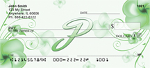 Floral Monogram P Personal Checks