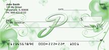 Monogram Letter P Pretty Floral Checks