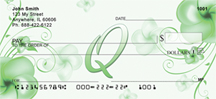 Floral Monogram Q Personal Checks
