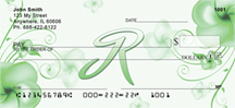 Floral Monogram R Personal Checks