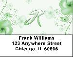 Floral Monogram R Address Labels