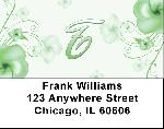 Floral Monogram T Address Labels