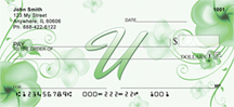 Floral Monogram U Personal Checks