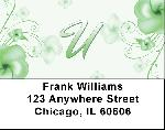 Floral Monogram U Address Labels