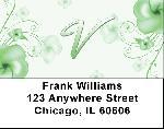 Floral Monogram V Address Labels
