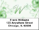 Floral Monogram W Address Labels