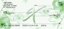 Monogram Letter X Pretty Floral Checks