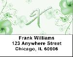 Floral Monogram X Address Labels