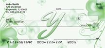 Monogram Letter Y Pretty Floral Checks