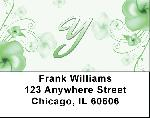 Floral Monogram Y Address Labels