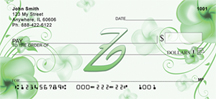Floral Monogram Z Personal Checks