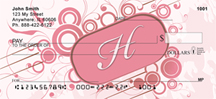 Stylish Monogram H Personal Checks