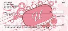 Stylish Monogram U Personal Checks
