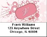 Stylish Monogram V Address Labels