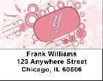 Stylish Monogram X Address Labels