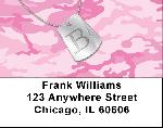 Dog Tag Monogram B Address Labels