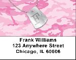 Dog Tag Monogram F Address Labels