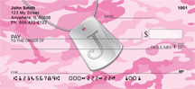 Dog Tag Monogram J Personal Checks