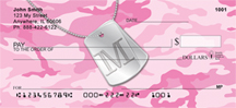Dog Tag Monogram M Personal Checks