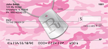 Monogram Letter R Unique Dog Tag Checks