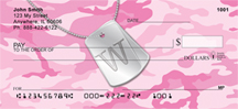 Dog Tag Monogram W Personal Checks