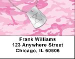 Dog Tag Monogram X Address Labels