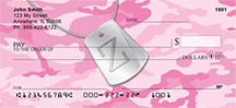 Dog Tag Monogram Z Personal Checks