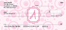 Bubbly Monogram A Personal Checks