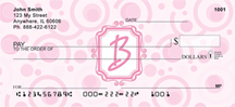 Bubbly Monogram B Personal Checks
