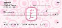 Bubbly Monogram E Personal Checks