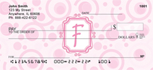 Bubbly Monogram F Personal Checks