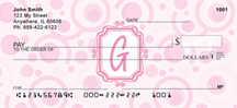 Monogram Letter G Very Bubbly Personal Checks
