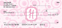 Bubbly Monogram H Personal Checks