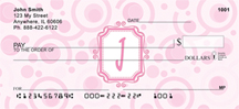 Bubbly Monogram I Personal Checks