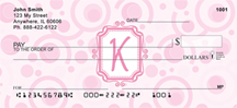 Bubbly Monogram K Personal Checks