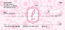 Bubbly Monogram L Personal Checks