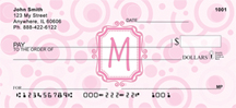 Bubbly Monogram M Personal Checks