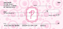 Bubbly Monogram P Personal Checks