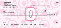 Bubbly Monogram Q Personal Checks